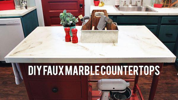 DIY Faux Marble Countertops | Knock It Off! | The Live Well ...