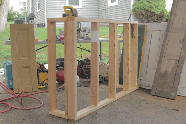 Build one large frame and 2 smaller frames, then...