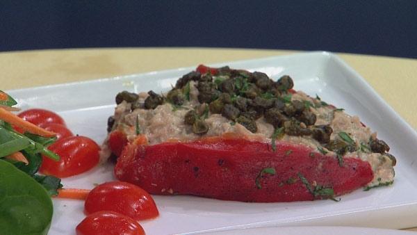 Tuna-Stuffed Roasted Red Pepper