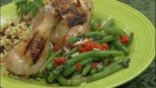 Green Beans with Roasted Red Pepper and Basil