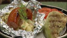 Smoked Kielbasa with Warm Potato Salad