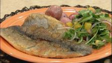 Trout with Arugula Orange Salad