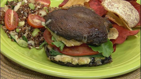 Portobello Burger Recipe Let S Dish The Live Well Network