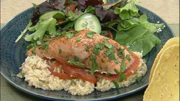 Baked Chile Rubbed Salmon