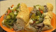 Italian Beef Sandwiches and Stewed Peppers