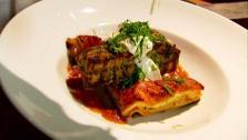 Cilantro Salmon with Smoky Tomato-Habanero Lasagne
