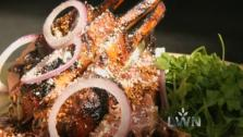 Rick Bayless shares a recipe for a sublime grilled rack of lamb with a pasilla chile-spiked glaze.