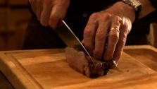 Roasted Leg of Lamb in Pasilla-Black Olive Sauce