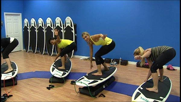 Surf Pounds Away with New Indoor Surfing Fitness Trend