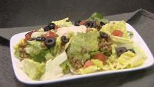 Meatless Taco Salad with Dairy-Free Cashew Sour Cream