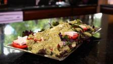 Caprese Salad with Avocado Dressing