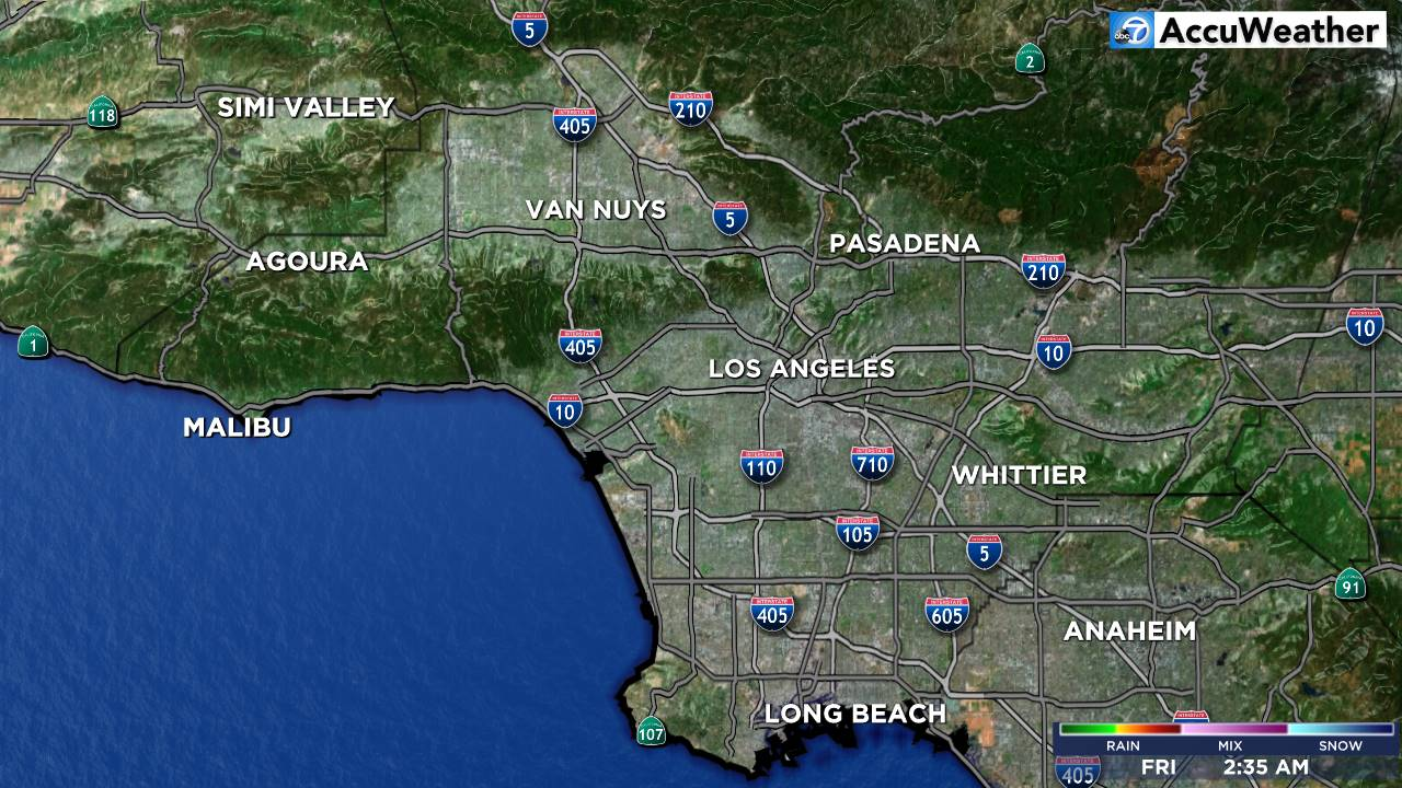 Weather Los Angeles Map.Los Angeles Weather Map Mega Doppler 7000 Hd Abc7 Com