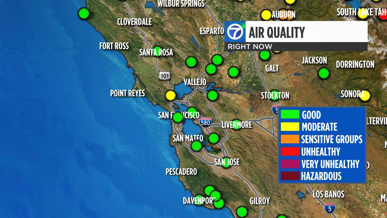Map Of California Bay Area.California Wildfires Check Current Bay Area Air Quality Levels