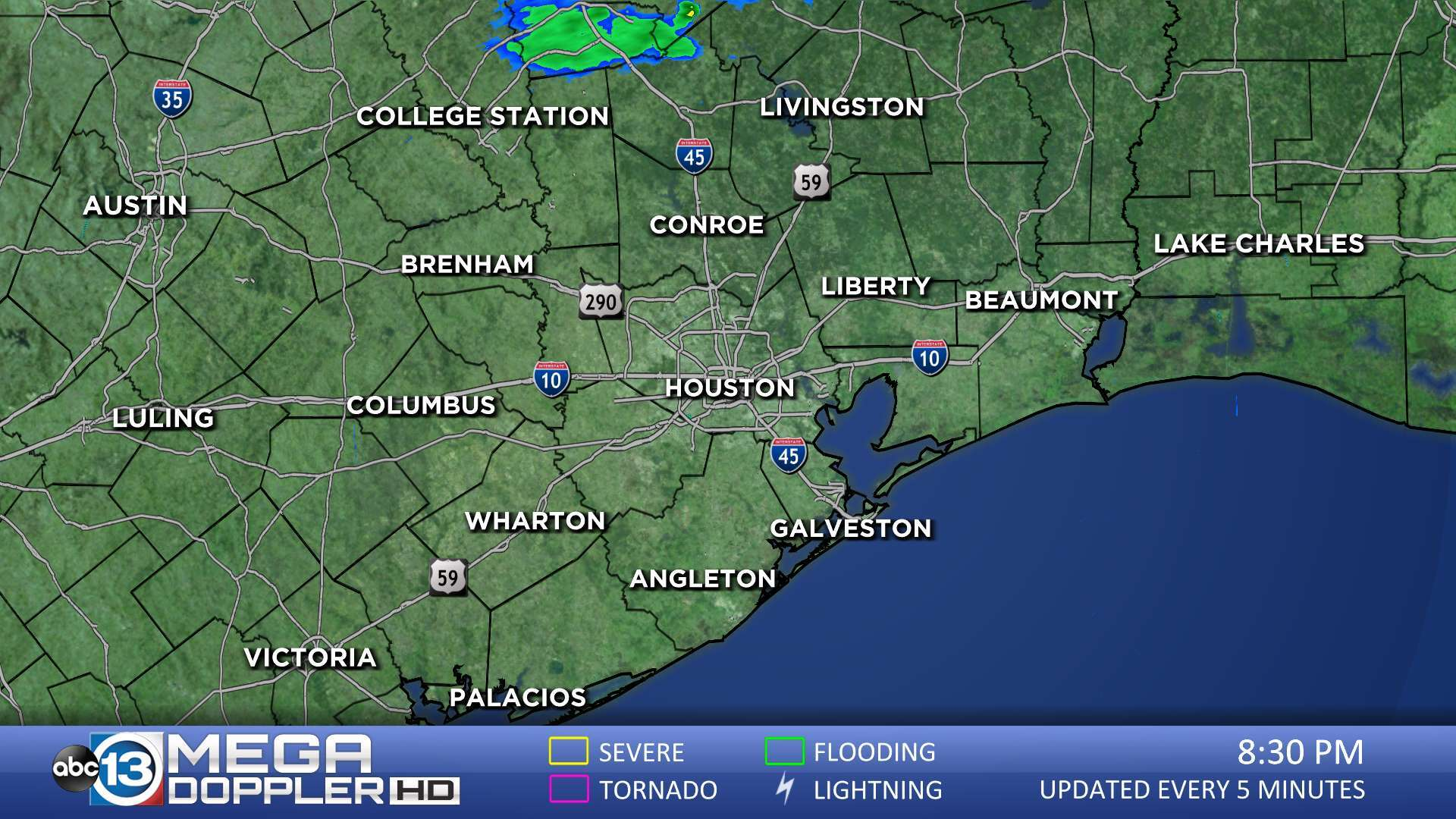 Houston Weather Radar Map Mega Doppler Abc13 Com