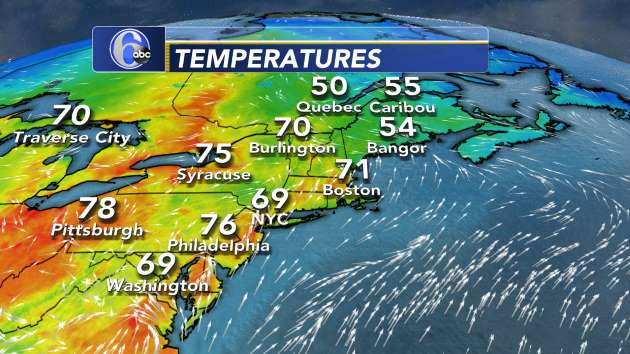 Current Temperatures - Northeast U.S. | 6abc.com